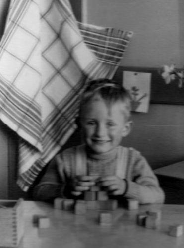 Robert in kinder garden at age 4: always doing something