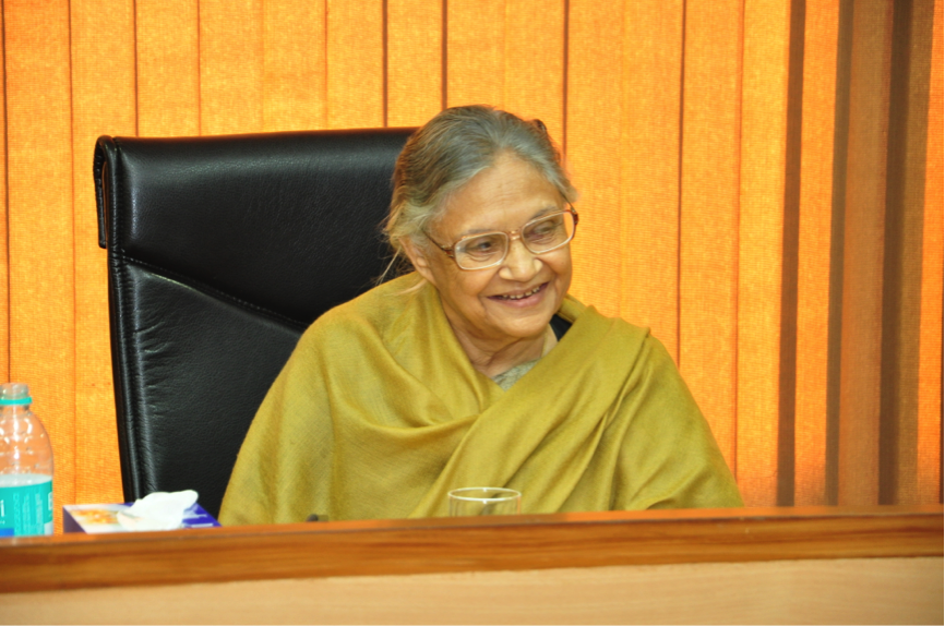 The Chief Minister of Delhi, Shiela Dixit