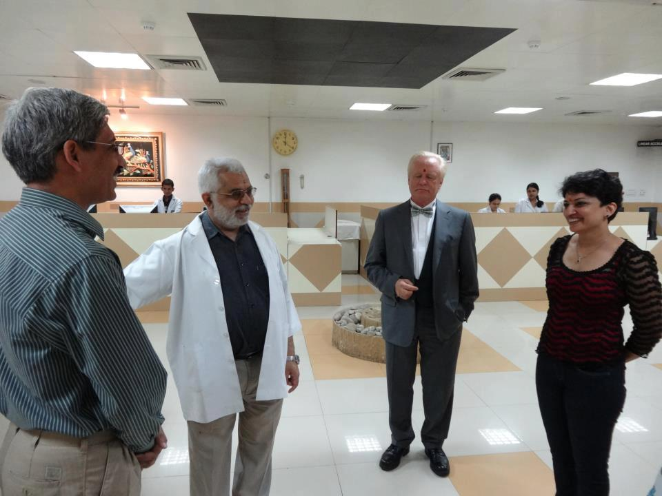 Robert Gorter at the Delhi State Cancer Institute