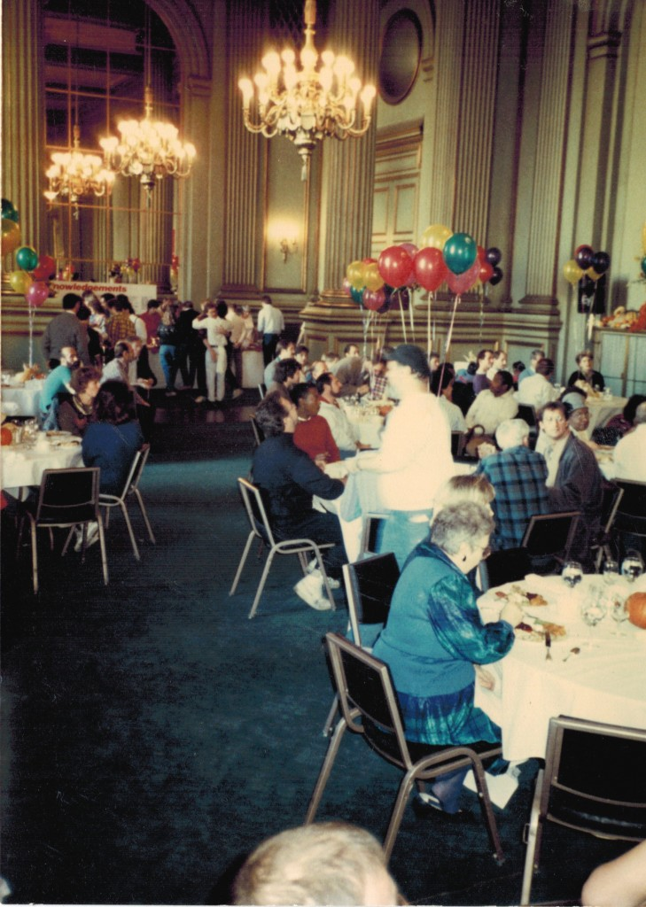 Christmas Party for AIDS patients in the foyer of the San Francisco Opera Building (1984)]
