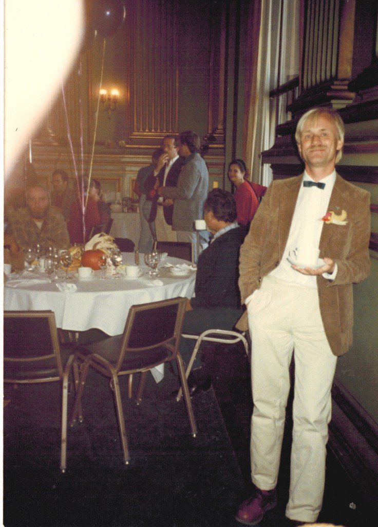 Robert Gorter as only volunteering doctor at the annual Christmas party for AIDS patients in San Francisco (1984 or 1985)]