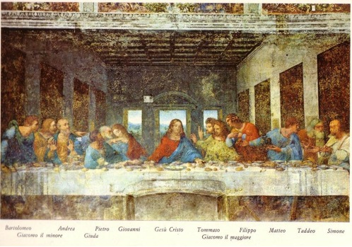 The Last Supper by Leonardo da Vinci in Milan, Italy