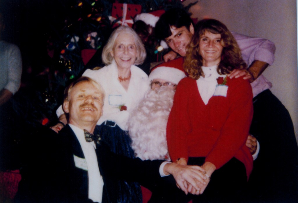 Robert Gorter as volunteering doctor at a Christmas party for HIV/AIDS patients (San Francisco, 1986)