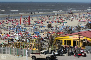 At the beach on a sunny summer day in Zandvoort aan Zee