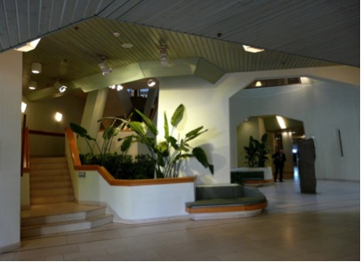 Inside the ING Bank on the first floor