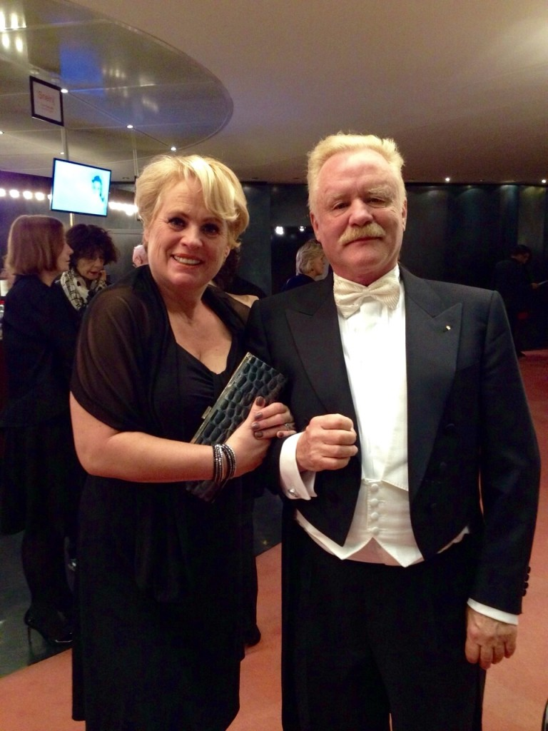 Paulien de Graaf-Cobelens en Robert Gorter at the opera in Amsterdam on November 10th, 2014, to celebrate life after being 6 years free of cancer by attending the opera Lohengrin by Richard Wagner.