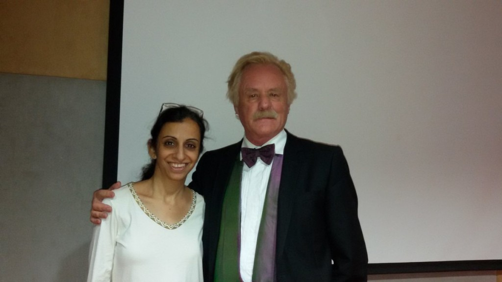 Dr. Gorter met an anthroposohic doctor in a conference at Saifee Hospital in Mumbai, India