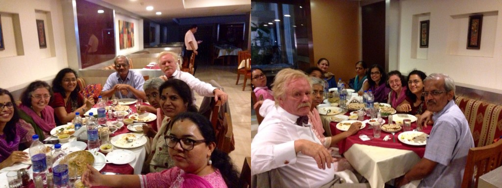 Prof. Dr. Robert Gorter having dinner with psychologists