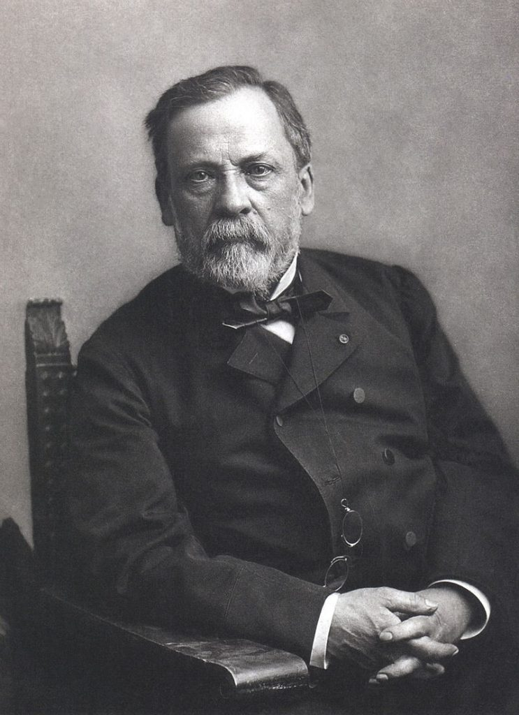 Louis Pasteur (1822-1895) was renowned for his discoveries of the principles of vaccination, microbial fermentation and pasteurization. He is remembered for his remarkable breakthroughs in the causes and preventions of diseases (hygiene)