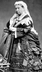 Victoria (Alexandrina Victoria; 24 May 1819 – 22 January 1901) was Queen of the United Kingdom of Great Britain and Ireland from 20 June 1837 until her death. From 1 May 1876, she had the additional title of Empress of India.