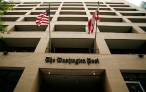 The Washington Post building in downtown Washington, D.C., USA